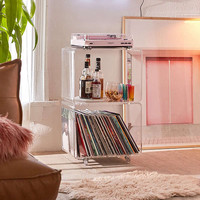 Locklear Rolling Acrylic Cube Storage | Urban Outfitters