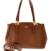 COACH Small Christie Carryall Shoulder Bag in Crossgrain Leather Saddle, F57520  COACH bag