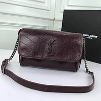 ysl women leather shoulder bag satchel tote bag handbag shopping leather tote crossbody satchel shouder bag 138
