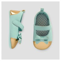 Baby Girls' Metallic Accent Mary Jane -Cat & Jack™ Aqua