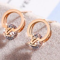 LV Louis Vuitton Fashion Women Diamond Earrings Accessories Jewelry