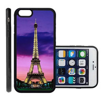 RCGrafix Brand Eiffel Tower Night Lights Paris Apple Iphone 6 Plus Protective Cell Phone Case Cover - Fits Apple Iphone 6 Plus