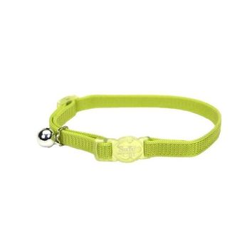 """Safe Cat Breakaway Safety Collar 3/8"""" x 8-12"""" Lime"""