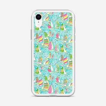 Lilly Pulitzer Sailboat iPhone XR Case