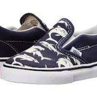 Vans Classic Slip On(T)-(Glow Sharks)Dress Blue/Wht