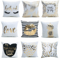 Gold Pillow Cover Collection I