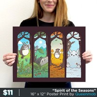 Spirit of the Seasons - Posters | TeeFury