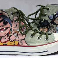 Gorillaz Shoes Hand Painted Custom Shoes For Fans