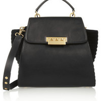 Z Spoke by Zac Posen Eartha leather and suede tote – 50% at THE OUTNET.COM