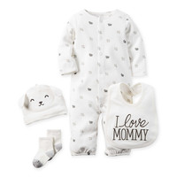 "carter's® 4-Piece Babysoft ""I Love Mommy"" Lamb Take Me Home Set"