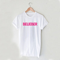 BELIEBER Justin Style White and Black Reaclothstore