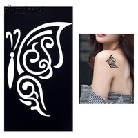 1 PC Small Henna Indian Tattoo Stencil Drawing for Airbrush Painting Butterfly Insect Template Women Body Art Tattoo Stencil G51
