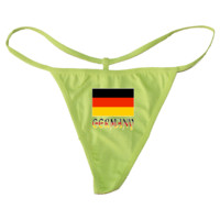 Germany Flag and Name Lime G-String $10.99 www.inktastic.com
