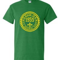 Made in 1955 All Original Parts Tshirt. 60th Birthday Shirt.  Funny Birthday Tshirts. Ladies and Mens Unisex Styles. Makes A Great Gift.