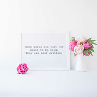 Motivational Print Writer Gift Writing Quote Writer Quote Gifts Office Decor Print Writing Quote Typogaphy Print The Little Book of Muses