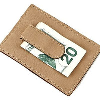 Set of 5 Personalized Leatherette Wallet Card Case/Money Clip Gifts For Groomsmen / Groom / Best Man / Father of Bride / Father of Groom