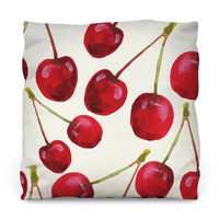 Cherry Bomb Outdoor Throw Pillow