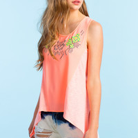 Pop Embroidered Swing Tank