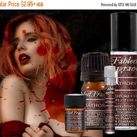 SALE BATHORY Perfume: Elizabeth Bathory, Blood Orange, Bulgarian Rose, Red Musk, Vegan Solid Perfume, Ships Out in 6-10 Days