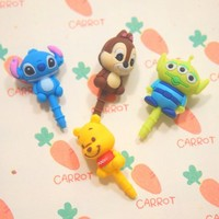 Anti Dust Earphone Jack for iPhone and iPad-Super Cute Cartoon Avaliable from 1Point99.com