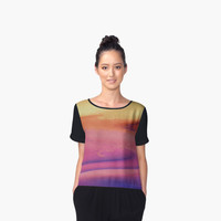 'Sunset Digital Painting' Women's Chiffon Top by ChessJess