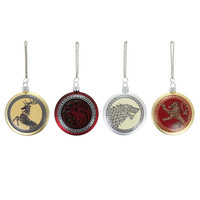 Game Of Thrones 4-Piece Holiday Ornament Set