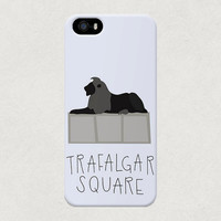 London Nelson's Lions Trafalgar Square iPhone 4 4s 5 5s 5c Samsung Galaxy S4 S3 Case