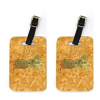 Pair of Pineapple Luggage Tags