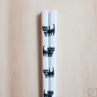 Japanese Chopsticks Bowtie Kitty
