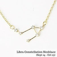 Libra Constellation Zodiac Necklace - As seen in Real Simple