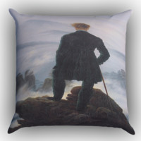 Wanderer Above the Sea of Fog Zippered Pillows  Covers 16x16, 18x18, 20x20 Inches
