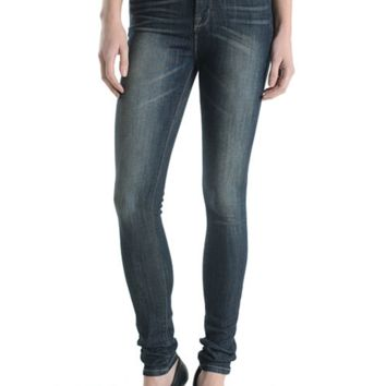High rise washed skinny denim pants by Just USA Jeans