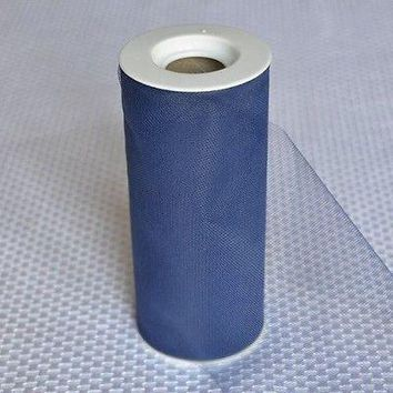 Navy Blue Premium Tulle on Spool 25 Yards Craft Project Wedding Table Decoration