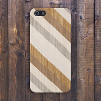 Gold x Brown x Diagonal Stripes Wood Design Case for iPhone 6 6+ iPhone 5 5s 5c iPhone 4 4s and Samsung Galaxy s5 s4 & s3
