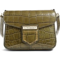 Givenchy Mini Nobile Croc Embossed Leather Crossbody Bag   Nordstrom