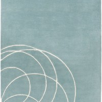 Solid Bold Area Rug Blue