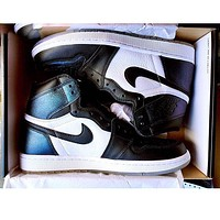 Nike Air Jordan Retro 1 Black white Contrast Sports shoes