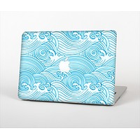 """The Abstract Blue & White Waves for the Apple MacBook Pro Retina 13"""""""