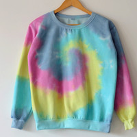 Colorful Tie-dye Spiral Sweatshirts
