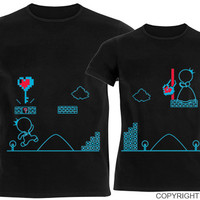Key To My Heart™ His & Hers Couple Shirts Black,Boyfriend Girlfriend Matching Couple Shirts,Valentine's Day Gifts