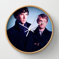 Sherlock BBC Wall Clock by Hands in the Sky