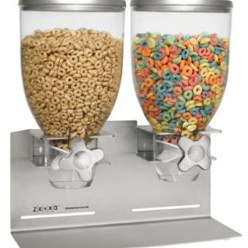 Zevro Dual Dry food Dispenser, Stainless Steel: Kitchen & Dining