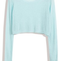 Open-Knit Cropped Sweater - OASAP.com
