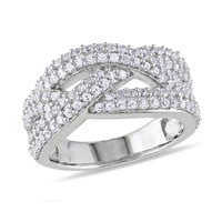 Created White Sapphire Fashion Ring - Size 5