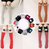 Cute Cartoon Children Sock Print Animal Cotton Baby Kid Sock Knee High Long Fox Socks For Toddler Girl Clothing Accessories V20