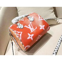Louis Vuitton casual versatile print handbag shoulder diagonal bag boston bag