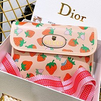 GUCCI New fashion more strawberry print shoulder bag crossbody bag