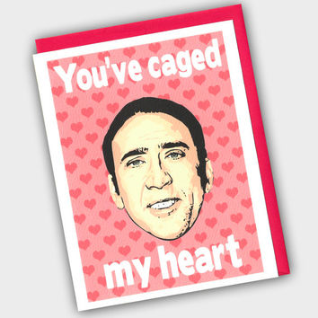 Funny Valentine's Day Card  - Funny Valentine - You've Caged My Heart - Valentine's Day Card