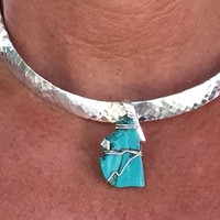 Hammered Sterling silver choker
