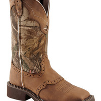 Justin Gypsy Real Tree Camo Cowgirl Boots - Square Toe - Sheplers